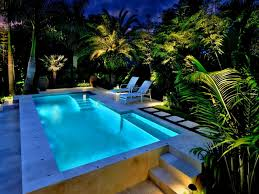 outdoor paver trends in ground landscape lighting backyard pool