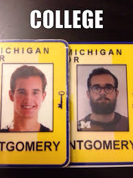 Senior Year Meme - housemate just replaced his student id from freshman year sent me