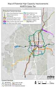 Atlanta Marta Train Map by The Options U2014 Transit For Cobb