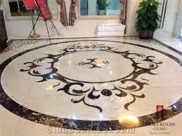 turkey composited marble waterjet medallion marble floor flowers