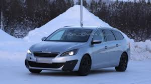 peugeot wagon peugeot 308 sw gti wagon spied during winter tests