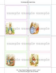 peter rabbit printable place card template download flat tented