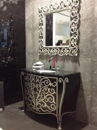bathroom mirrors awesome silver framed bathroom mirror decorate