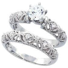 women wedding rings sterling silver wedding ring set engagement rings for