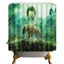 cheetah shower curtain home design ideas and pictures