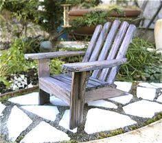 Miniature Adirondack Chair One Miniature Adirondack Chair Beach Diorama By Thelittlehedgerow