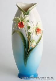 Franz Butterfly Vase Fz00268 Franz Porcelain Vase Cymbidium Rare Retired New In The Box