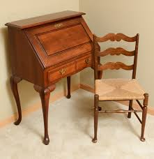 Antique Secretary Desk With Bookcase by Broyhill Secretary Desk And Chair Ebth