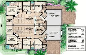 family home floor plans plan 60645nd craftsman duplex with breezeway breezeway front