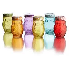 owl colors set 6 jars with lid 14 oz walmart com