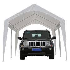 Carport Canopy Heavy Duty Abba Patio 10 X 20 Feet Outdoor Carport Canopy With 6 Steel Legs