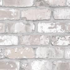 exposed brick wallpaper the joyful home company