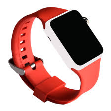 rubber bracelet watches images Crested sport silicone watch strap for apple watch band 42 mm 38 jpg