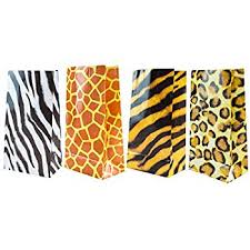 leopard print party supplies express 12 zoo animal print goody bags childrens