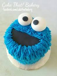 cookie monster smash cake love this cakes and biscuits