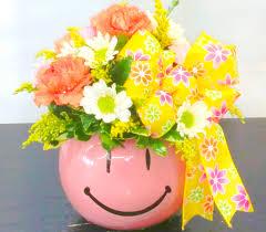 Smiley Flowers - sending smiles u0026 cheer mauve smiley same day delivery fiesta