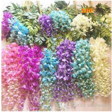 flower wholesale 2017 wholesale new artificial wisteria flower rattan silk