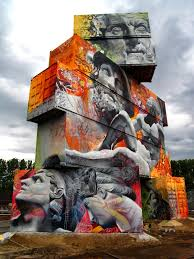 amazing graffiti of greek gods on containers pics