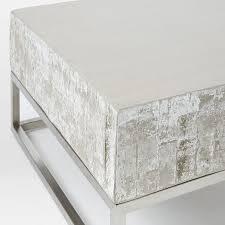 west elm concrete side table concrete chrome coffee table west elm