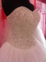 wedding dress with bling princess white or ivory beading wedding dress vintage