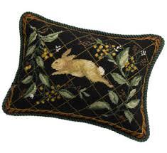 needlepoint pillow of nature rabbit pillows