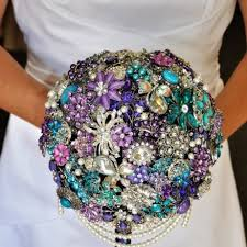 Purple Wedding Bouquets 20 Chic Brooch Wedding Bouquets With Diy Tutorial Deer Pearl