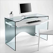 pleasing minimalist computer desk with white glass computer desk