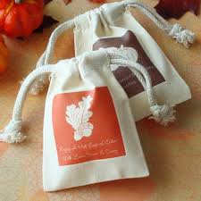 favor bag personalized cotton fall silhouette favor bag favor bags