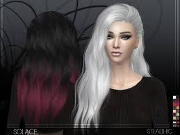 custom hair for sims 4 stealthic solace female hair