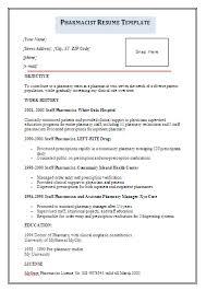 Resume Samples For Freshers by Hospital Pharmacist Resume Sample Http Www Resumecareer Info