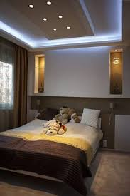 Modern Master Bedroom Design Ideas With Luxury Lamps White Bed - Ceiling design for bedroom