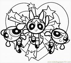 elegant powerpuff girls coloring page 24 for your coloring pages
