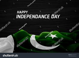 Flag Of Pakistan Image Happy Independence Day Pakistan Flag Wood Stock Photo 291351716