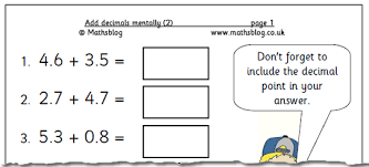 free worksheets subtracting decimals worksheets ks2 free math