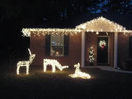 chic inspiration lighted deer lawn ornaments chritsmas decor