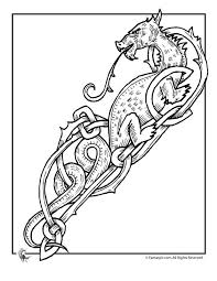 celtic dragon coloring pages sca coloring pages pinterest