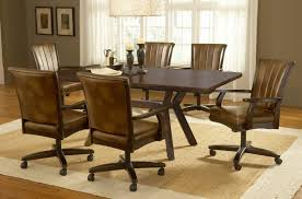 kitchen table and chairs with casters dining room sets with wheels chairs casters for alliancemv 1000