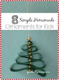 how to make an easy beaded tree ornament and 7 other easy ornaments