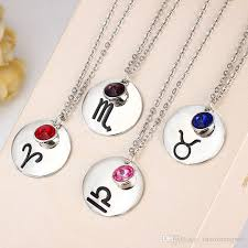 jewelry fashion necklace images Wholesale gemini leo pisces 12 zodiac necklace birthstone jpg