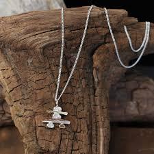 sterling gold necklace images Inukshuk necklace unique handmade canadian jewellery cedar lake jpg