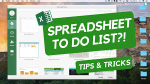 Excel Spreadsheet Development Spreadsheets Todo List Youtube