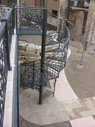 nice and appealing wrought iron spiral staircase stair astounding ideas for home exterior design using black iron