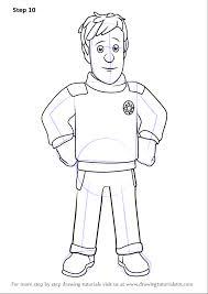 learn draw ben hooper fireman sam fireman sam step