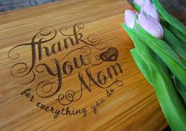 personalized mother u0027s day cutting board thank you mom