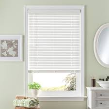 room darkening 2 u0027 u0027 slat faux wood blinds 35 u0027 u0027 x 64 u0027 u0027