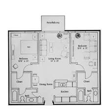two bedroom two bathroom house plans apartments floor plans 2 bedrooms home intercine