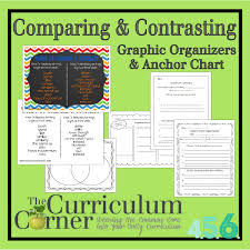 comparison and contrast essay sample comparing contrasting writing anchor chart graphic organizers comparing contrasting anchor chart and graphic organizers from the curriculum corner free