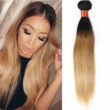 dark hair after 70 dark root light brown straight human hair weave 1 pc wigsbuy com