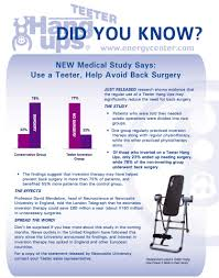 inversion therapy table benefits newcastle university study avoid back surgery