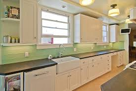 Green Kitchen Backsplash Tile Imposing Decoration Green Subway Tile Backsplash Picturesque
